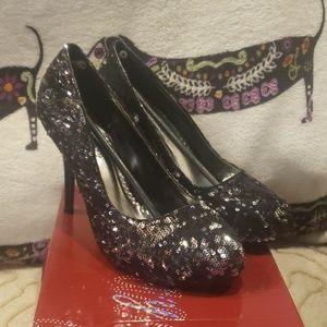 Cute sequined heels